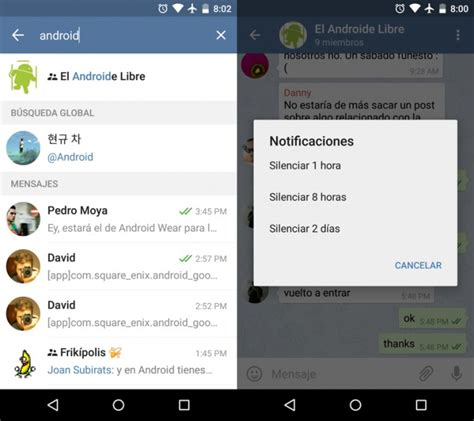 telegram android telegram 2 4 silenciar notificaciones y b 250 squeda global apk