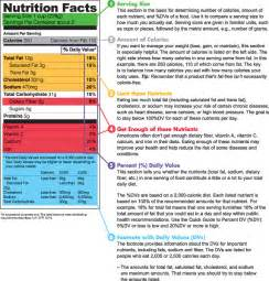 making healthier food choices labels grams calories