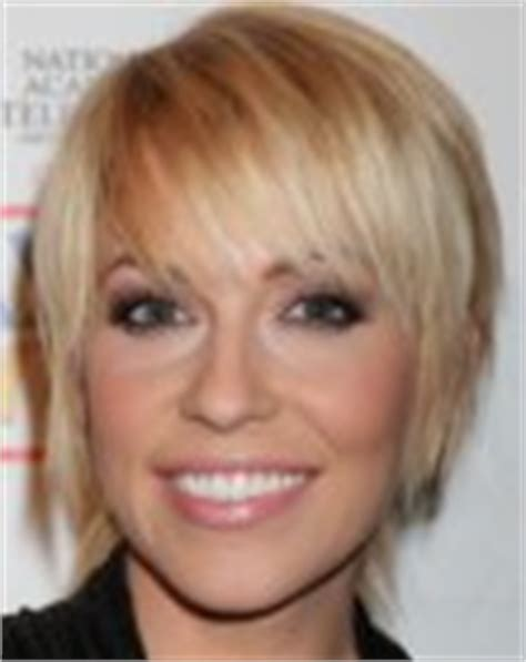 days of our lives short blonde hair farah fath short above the ears hairstyle with wispy bangs