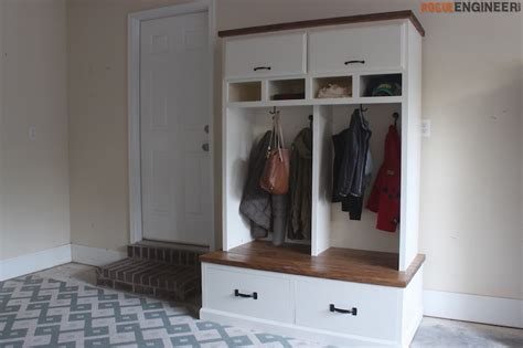 front door storage bench diy mudroom lockers with bench free diy plans