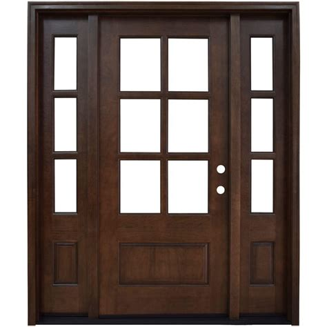 steves and sons interior doors steves sons 60 in x 80 in 6 lite stained