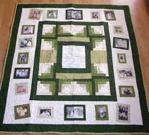 photo memory quilt custom designed with your pictures