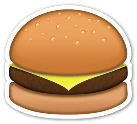emoji burger hamburger