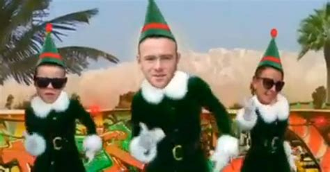 elf yourself printable version rooney elf yourself video wayne coleen and kai dancing