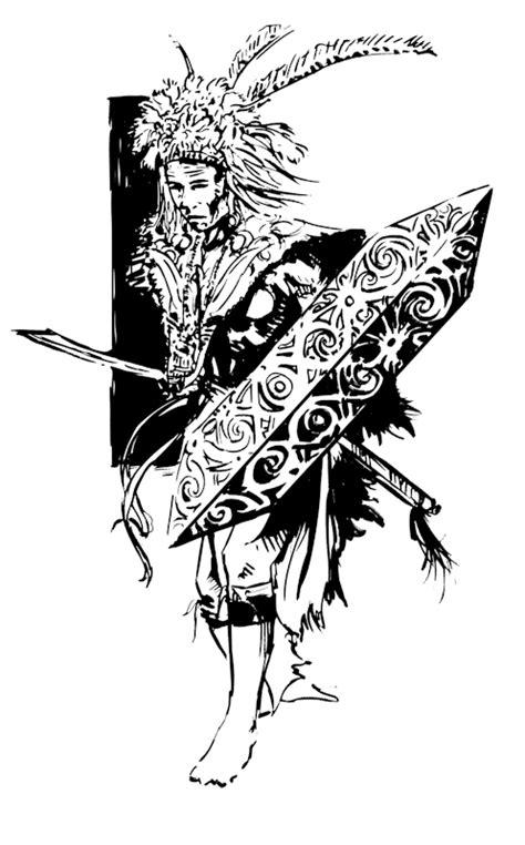 Baju Batik Kalimantan dayak warrior by sisank on deviantart