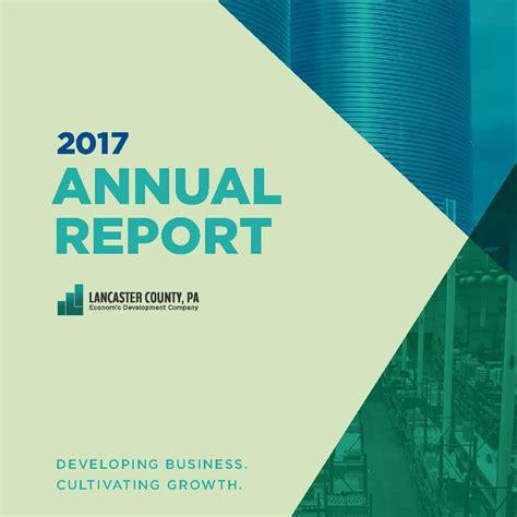 Annual Reports Economic Development Company Of Lancaster County Government Annual Report Template