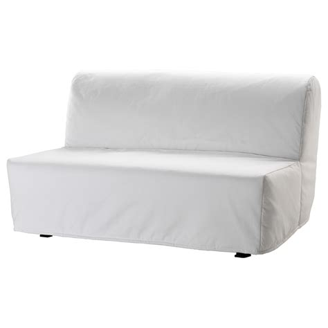 ikea lovas futon lycksele two seat sofa bed cover ransta white ikea