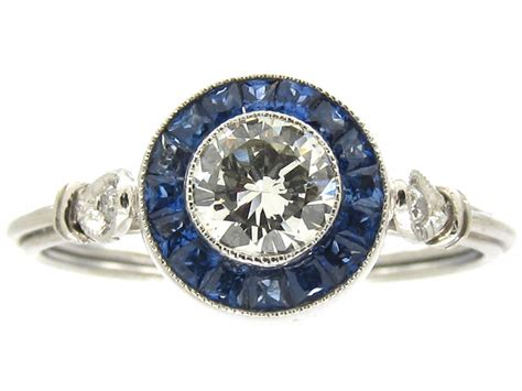and sapphire deco ring deco sapphire target cluster ring the