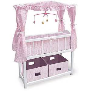Dolls Crib With Canopy by Childs Doll Canopy Crib Bed Bedding Set 4 American Ebay