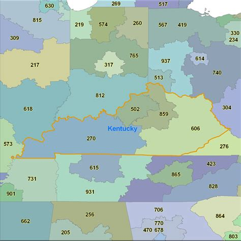 map kentucky area codes kentucky area code maps kentucky telephone area code maps