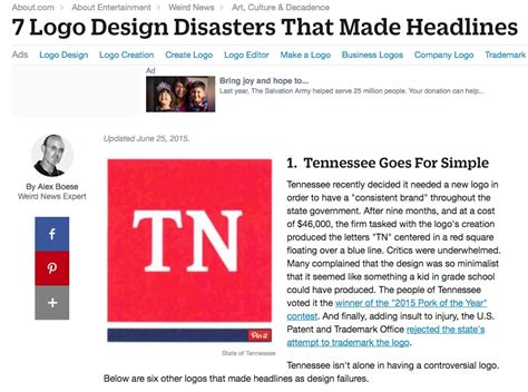 newspaper layout disasters 6 resources on the world s worst logo design disasters and