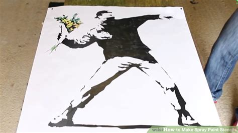 spray paint using stencils how to make spray paint stencils 10 steps with pictures