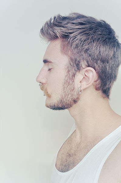 haircuts for guys with earrings 23 best septum images on pinterest septum piercing men