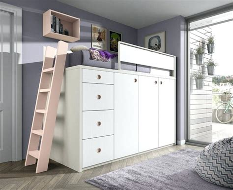 Lit Mezzanine Armoire lit superpose avec armoire integree lit mezzanine bureau