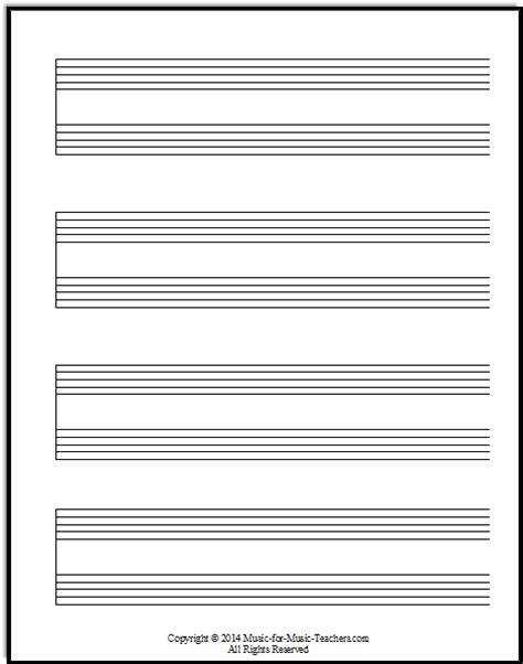 free printable staff paper with bar lines the gallery for gt blank bass clef music staff