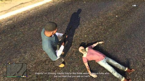 ricochet kills 5 ricochet kills 4 gta v franklin kills trevor accidentally in free roam