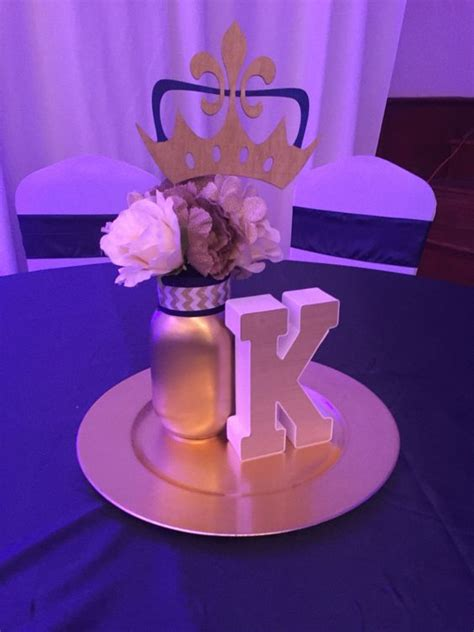 centerpieces baby shower royal theme prince shower
