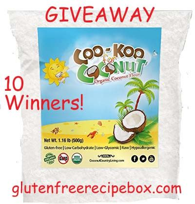 Gluten Free Giveaway - cookoo for coconut flour review gluten free giveaway