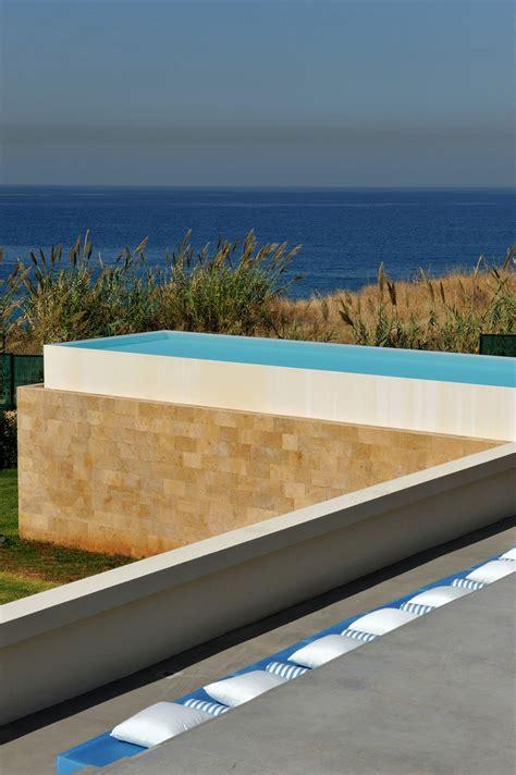 concrete walls striking oceanfront house in jbeil lebanon futuristic modern beach house called fidar in lebanon