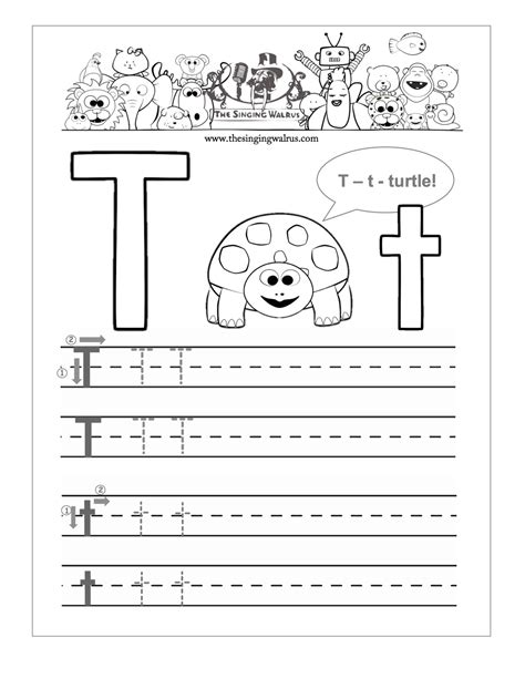 letter t worksheets printable words starting with letter