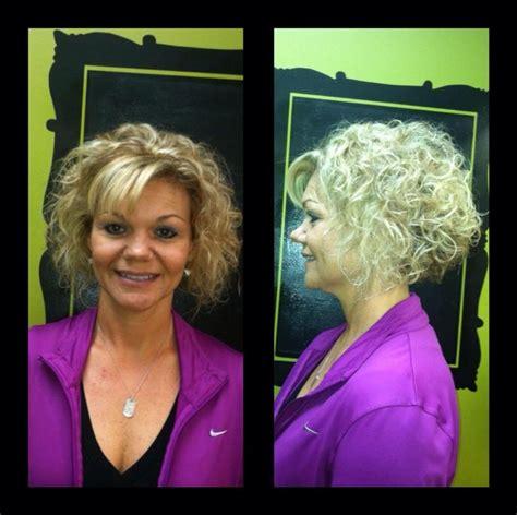 curly stacked bob haircut with bangs short stacked bob curly hair no bangs curly hair pinterest