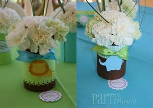 Baby Shower Centerpieces by Partylicious December 2010