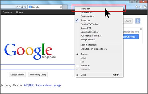 top bar of internet explorer disappeared internet explorer 10 show menu bar simple stuffs