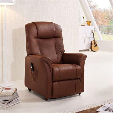 freedom fauteuil relax et releveur electrique cuir cognac
