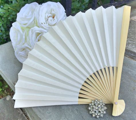 How To Make A Paper Fan For Weddings - ivory wedding paper fans for wedding pictures ivory