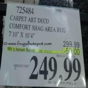 costco sale carpet deco comfort shag area rug 249 99