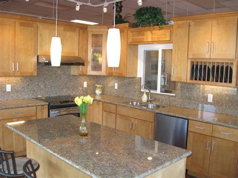 maple kitchen cabinets with granite countertops white granite with maple cabinets maple cabinets with