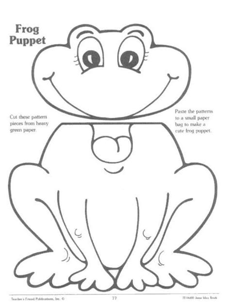 Frog Paper Bag Puppet Pattern | frog puppet crafts and gifts pinterest