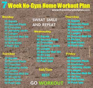 daily workout plan for at home 7 week no gym home workout plans workout routines pinterest workout plans gym and workout