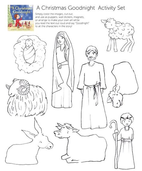 printable nativity scene characters coloring nativity crafts christian kids pinterest