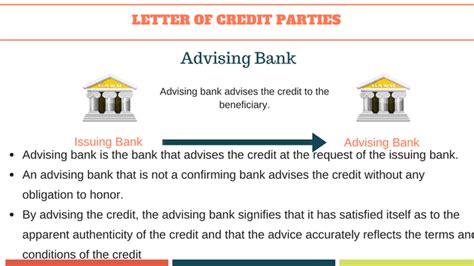 Export Letter Of Credit Advising Bank letter of credit basics to letters of credit