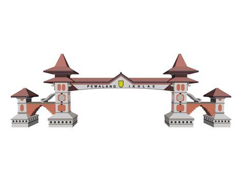 Desain Gapura Vector   download desain vector gapura pemalang inidesain