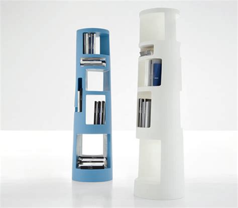 stylish unique bookcase with asymmetrical compartments
