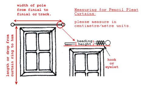 how do i measure for curtains pencil pleat curtains