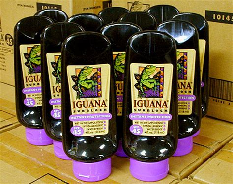 flozml bottles  iguana sunblock zinc oxide