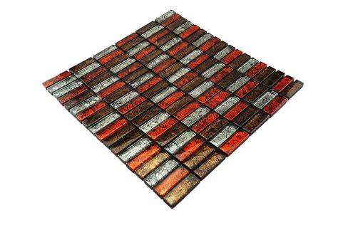 fliesen rot glasmosaik fliesen rot braun silber gm1500
