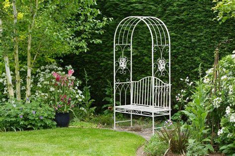 garden bench with arch garden bench two seater amelia rose arch by garden