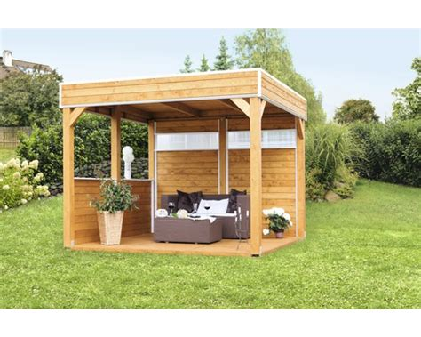 pavillon skan holz toulouse 302 x 302 cm natur bei - Wetterfeste Pavillon 3x4m