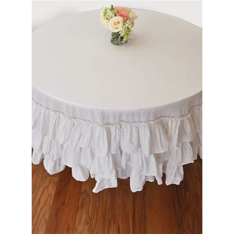 Hanukkah Home Decor white ruffle round tablecloth modern lola