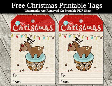 printable reindeer christmas tags diy free printable cartoon christmas tags