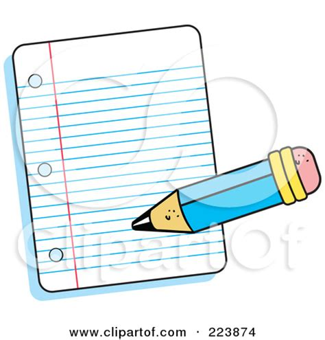 pencil writing on paper writing notes clipart clipart panda free clipart images