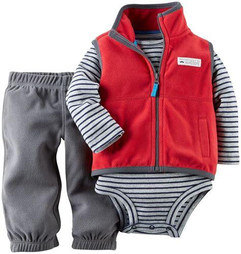 Set Carters Boy by S Baby Boys 3 Fleece Vest Set