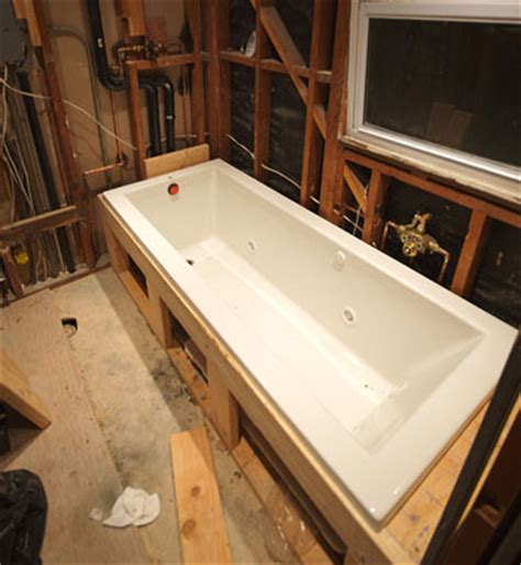 undermount bathtub installation undermount tub shower questions ceramic tile advice