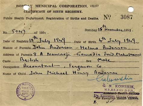 Indian Birth Records Mike Indian Birth Certificate Mike Flickr