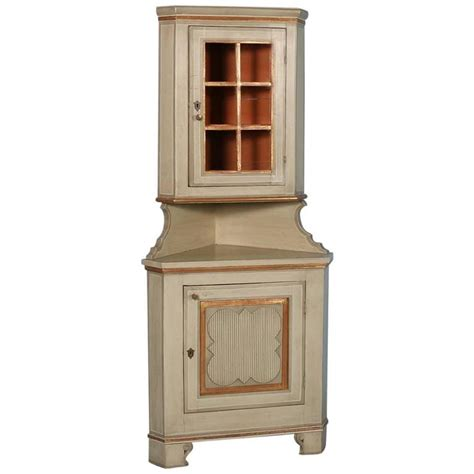 Painted Corner Cabinet by Antique Painted Corner Cabinet From Hungary Circa 1880