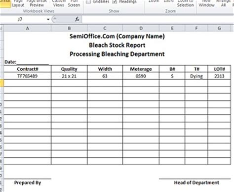 Stock Report Template Excel stock report template in excel format